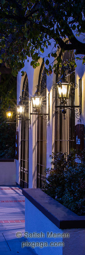 Arched Gates and Lamps, Los Gatos, CA, USA