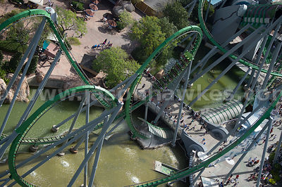 The Incredible Hulk roller coaster can be found in the Islands of Adventure part of Universal Orlando. With its unique launch system the ride reaches 40 mph in approximately two seconds.