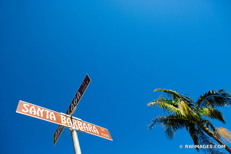 SANTA BARBARA STREET SIGN CALIFORNIA COLOR