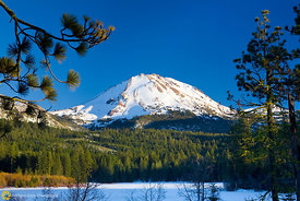 Mt Lassen from Manzanita Lake #5