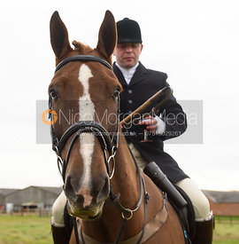 Peter Chojnacki at the meet - The Cottesmore Hunt at Toft 27/10