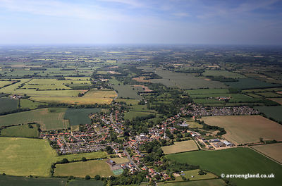 aerial photograph of Hempnall .Norwich, Norfolk England UK.