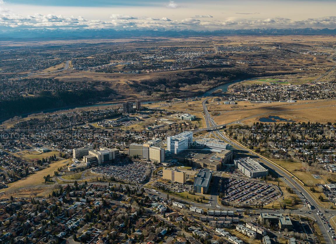 Aerial Photo Foothills Hospital Calgary