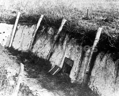 German trench during WWI Meuse-Argonne offensive