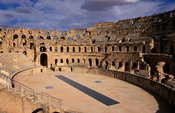 Colosseum of El-Jem, amphitheatre, Roman antiquity from around AD230, Tunisia