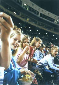 take me out to the Ball Game/Harbor park with Tides Fans - Young girls