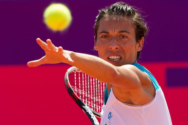 STRASBOURG: WTA Tennis 1/2 final  final match Schiavone vs Stephens