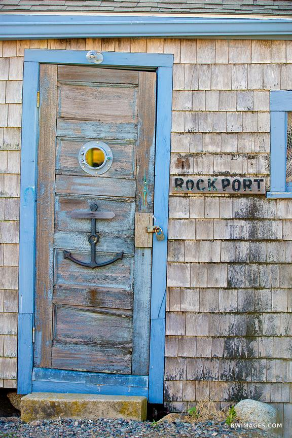 OLD DOOR ROCKPORT FISHING VILLAGE CAPE ANN MASSACHUSETTS
