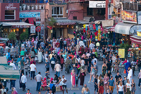 People in the square of Jemaa-el Fnaa in Marrakesh, Morocco