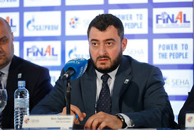 Boris Sapozhnikov during the Final Tournament - Closing press conference - Final Four - SEHA - Gazprom league, Skopje, 15.04.2018, Mandatory Credit ©SEHA/ Stanko Gruden