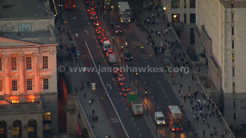 Aerial footage of London Bridge