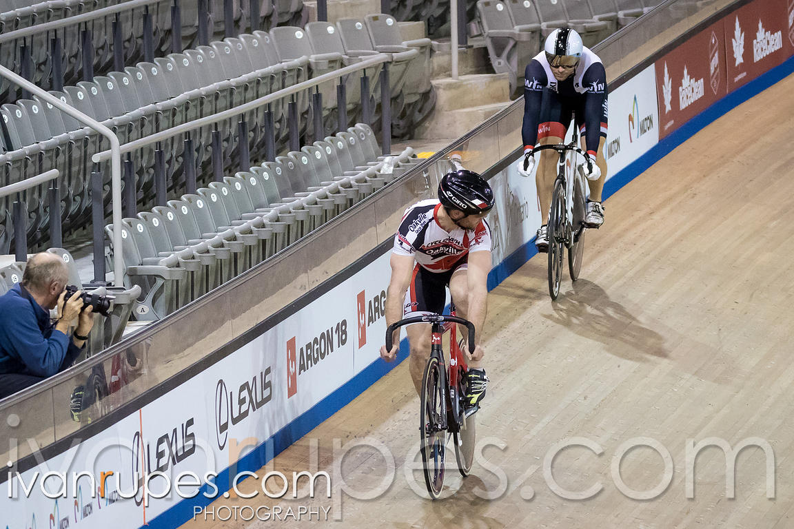 Master A Men Sprint 1-2 Final. Ontario Track Championships, March 3, 2018