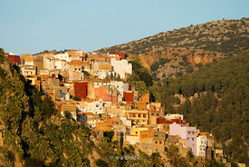 The town of Moulay Idriss in Morocco
