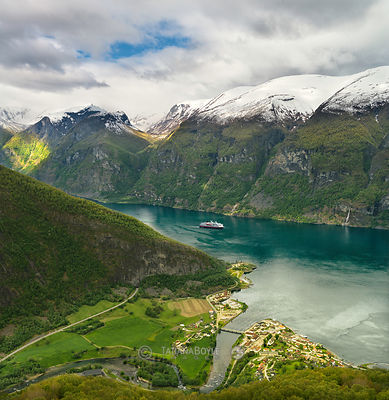 Aurland and Aurlandsfjorden, Norway
