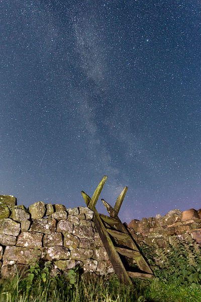 Along Hadrians Wall at Night