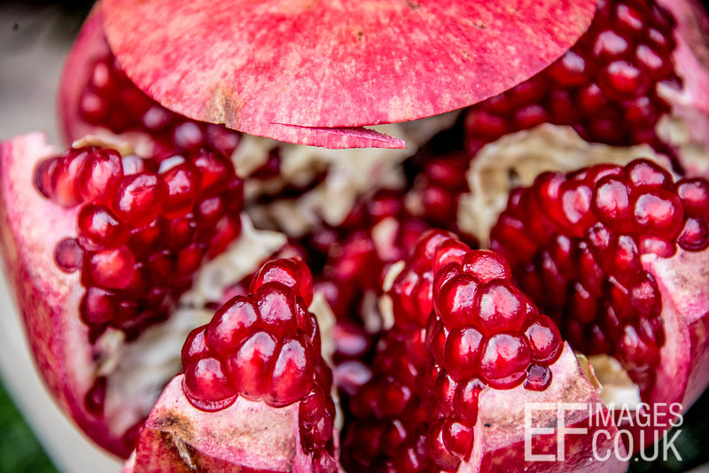 Beautiful Pomegranate Close-Up