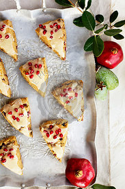 Guava Pomegranate Scones