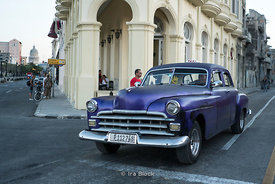 An old car on the streets of Havana, Cuba.