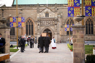 Richard III's Coffin is Carried towards Leicester Cathedral