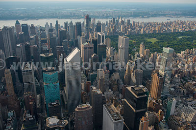 Aerial view across the skyscrapers in Midtown with Citigroup Center in the middle
