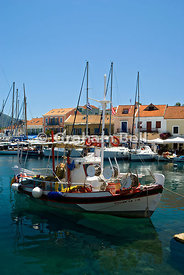 Fiscardo Harbour, Kefalonia, Ionian islands, Greece.