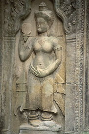 Apsara with mirror