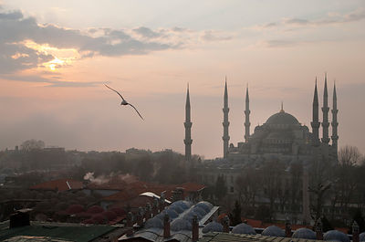 Aerial view of Istanbul at dawn
