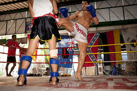 A photo series of details and action shots from a Muay Thai studio in Bangkok, Thailand.