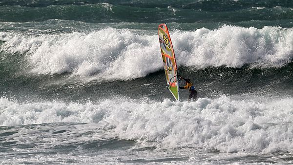 France, Finistère (29), Plomeur, Pointe de la Torche, World Cup 2014 Windsurf, Epreuve de vagues, le 21 octobre 2014, SWIFT Robby (UK)