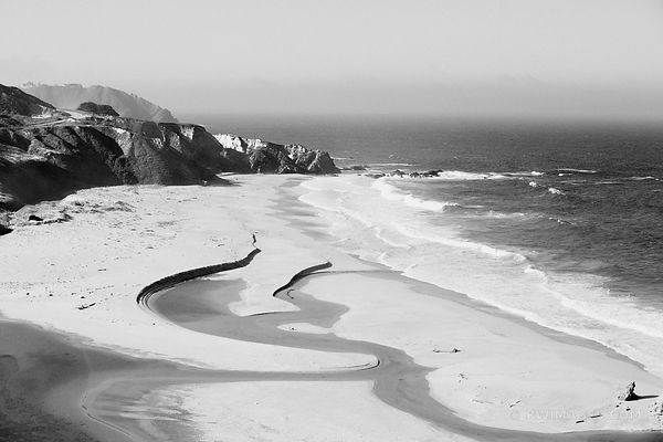 BIG SUR PACIFIC COAST CALIFORNIA BLACK AND WHITE