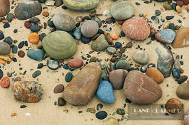 Pebbles on beach - Europe, United Kingdom, Scotland, Moray, Findhorn - digital