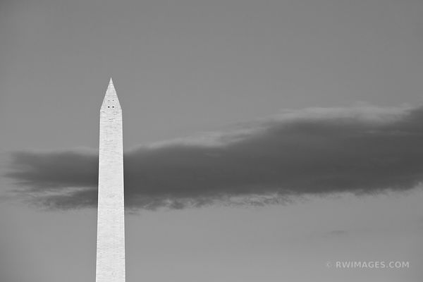 WASHINGTON MONUMENT WASHINGTON DC BLACK AND WHITE HORIZONTAL