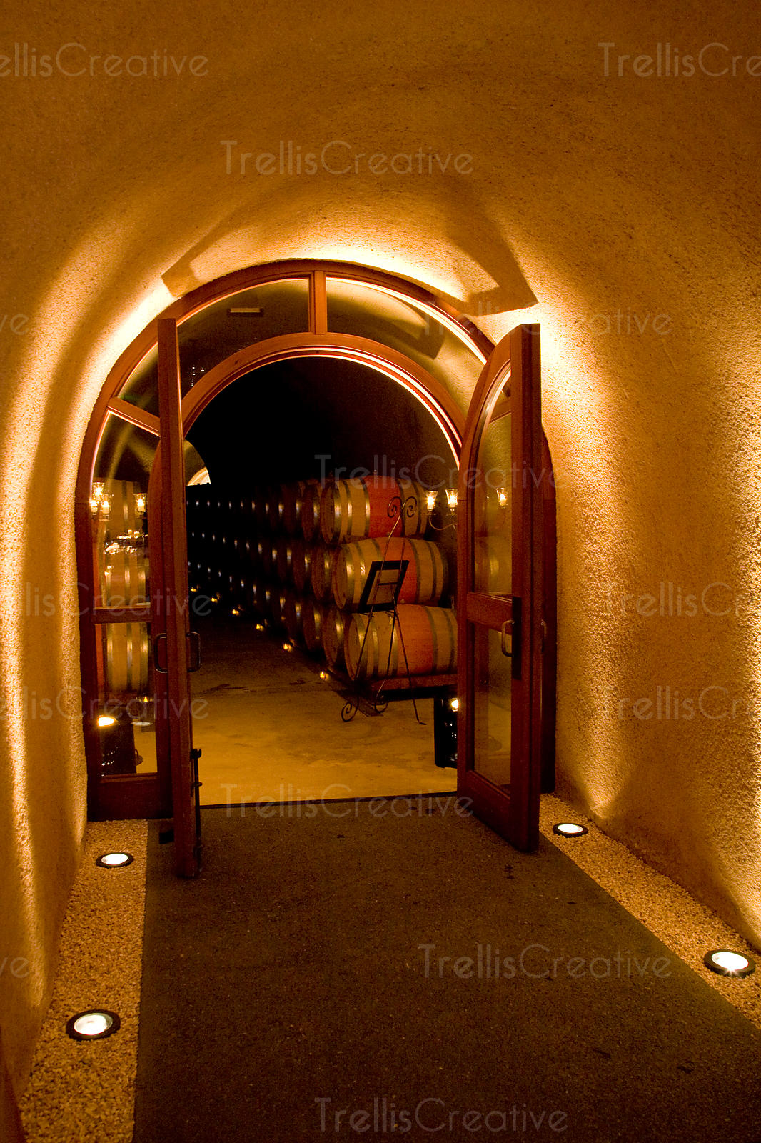 entrance to winery barrel cave