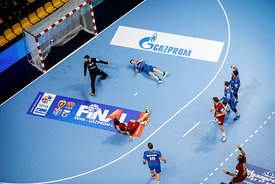 Players during the Final Tournament - Final Four - SEHA - Gazprom league, Telekom Veszprém - Meshkov Brest in Brest, Belarus, 07.04.2017, Mandatory Credit ©SEHA/ Stanko Gruden