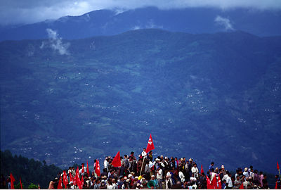 Mass Maoist Rally Dolakha district, Nepal