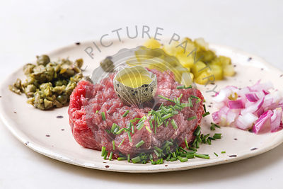 Beef tartare with quail egg