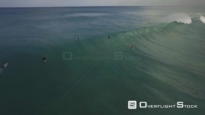 Drone Video of Surfers on Huge Waves at Rincon Puerto Rico
