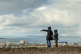 Tourists on Calton Hill