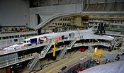 Hangar maintenance of Concorde