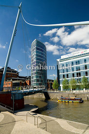 Temple Quay, Eye Tower building and Ferry Boat, Bristol.