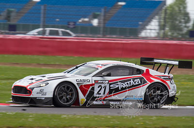 Strata 21 Motorsport Aston Martin Vantage GT3 in action at the Silverstone 500 - the third round of the British GT Championship 2014 - 1st June 2014