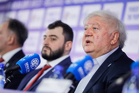 Mihajlo Mihajlovski during the Final Tournament - Final Four - SEHA - Gazprom league, Closing Press Conference, Belarus, 09.04.2017, Mandatory Credit ©SEHA/ Stanko Gruden..