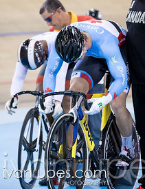 Men Sprint 1/2 Final. Milton International Challenge, Mattamy National Cycling Centre, Milton, On, September 30, 2016