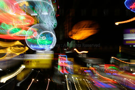 Abstract Khao san road at night