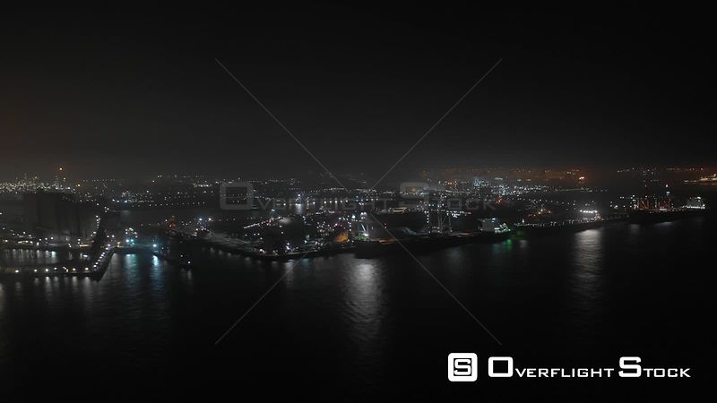 Timelapse Shipping and Industry in Port of Rotterdam Netherlands