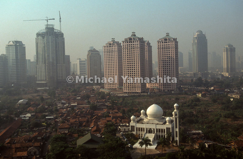 A cityscape view after Indonesia's Plague of Fire.