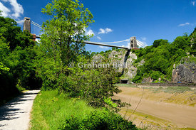 clifton suspension bridge and river avon bristol