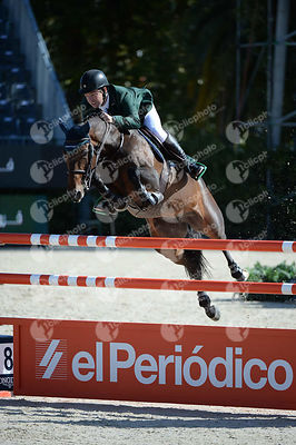 Cian O CONNOR  ,(IRL), BE GENTLE during Coca-Cola Trofey competition at CSIO5* Barcelona at Real Club de Polo, Barcelona - Spain