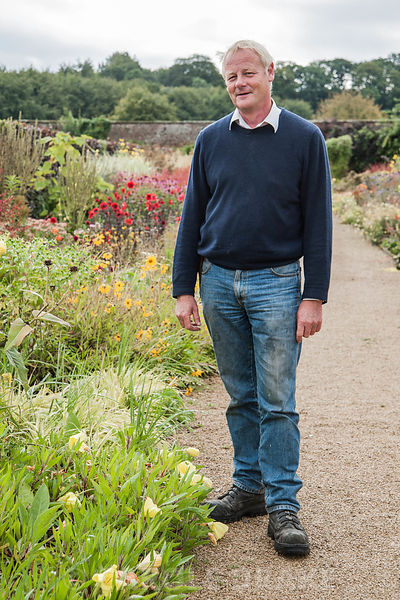 Norman Potter, head gardener, who previously had a career in the steel industry. Helmsley Walled Garden, Helmsley, York, North Yorkshire, UK
