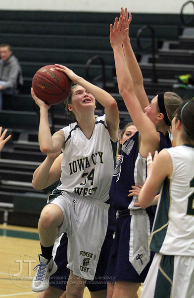 The Iowa City West sophomore girls basketball team defeated the visiting Cedar Rapids Xavier team 48-40 Thursday, January 26th, 2012.
